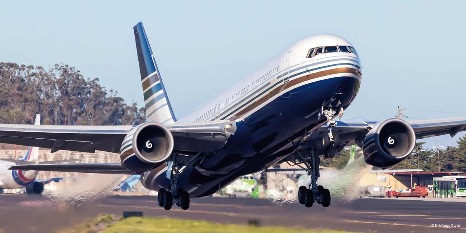 fletar avion privado charter 767