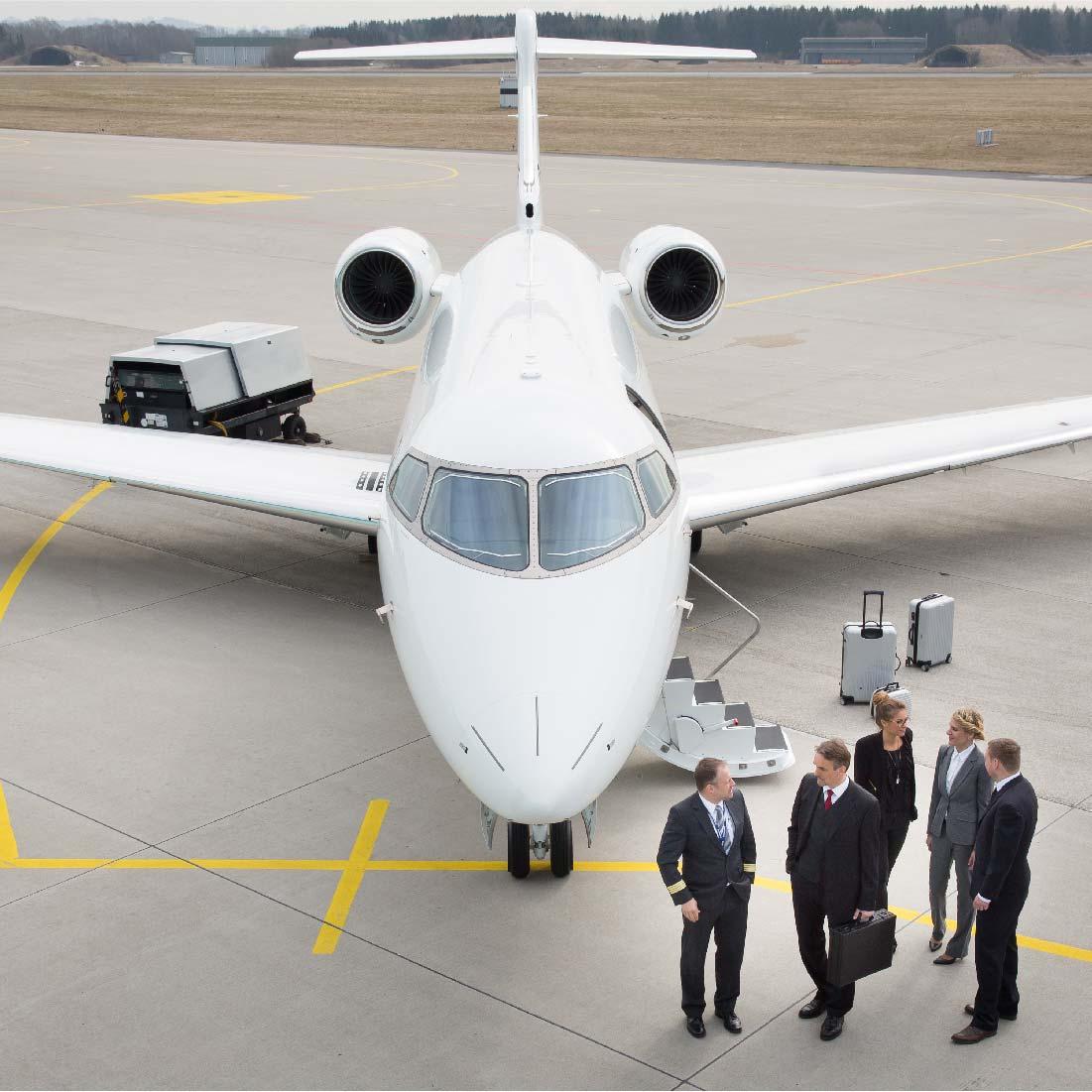 Por que é mais conveniente para uma empresa voar de avião executivo?